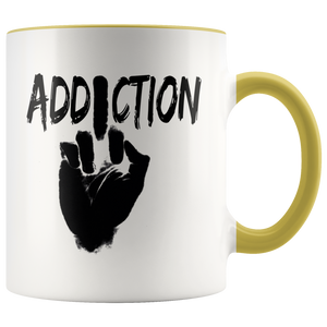 """F*** Addiction"" Recovery Coffee Mug - Yellow"