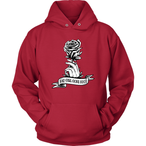 """Bad Girl Gone Good"" Original 12-Step Lifestyle Recovery-Theme Design Red Hoodie"