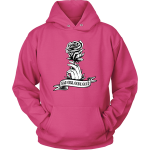 """Bad Girl Gone Good"" Original 12-Step Lifestyle Recovery-Theme Design Magenta Hoodie"