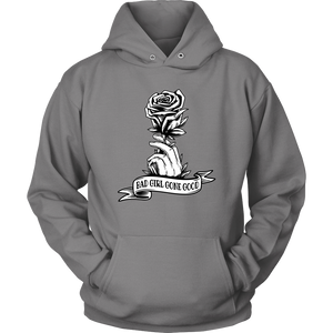 """Bad Girl Gone Good"" Original 12-Step Lifestyle Recovery-Theme Design Gray Hoodie"