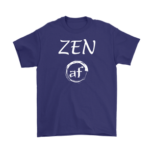 """ZEN AF"" Original Unisex Recovery-Themed Tshirt - Purple"