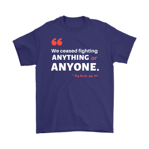 """We Ceased Fighting Anyone or Anything"" Original Unisex AA Tee - Purple"