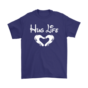 """Hug Life"" Recovery-themed unisex t-shirt - Purple"