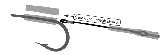 Linking two hooks together using rigging sleeve.