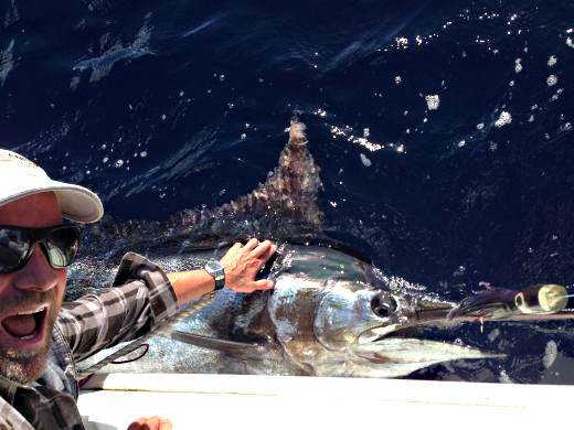 Fisher Andrew Cain with Big Bue Marlin.