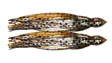 Bronze Squid Foil Trolling Skirts 8