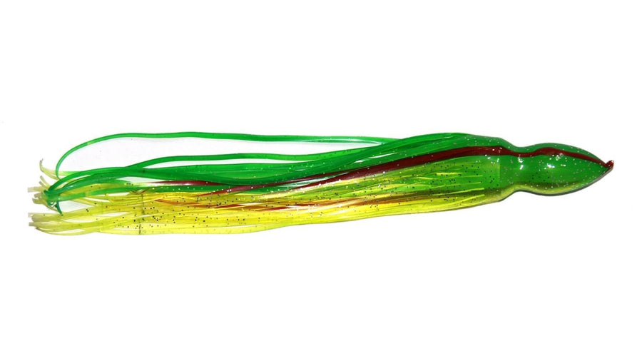 Trolling Skirt Red Stripes Chartreuse 17