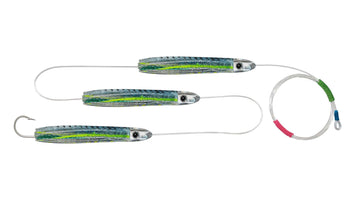 Chain Green Mackerel Skirted Bullet Trolling Lures.