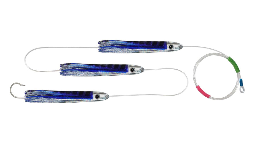 Chain Skipjack Tuna Skirted Bullet Trolling Lures.