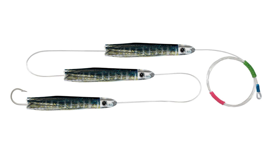 Chain Yellowfin Tuna Skirted Bullet Trolling Lures.