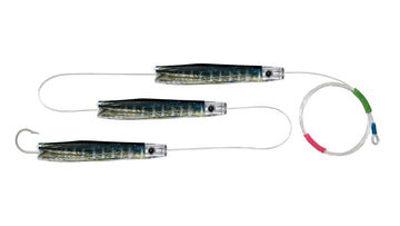 Chain Yellowfin Tuna Skirted Pusher Trolling Lures.