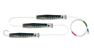Chain Yellowfin Tuna Skirted Chugger Trolling Lures.