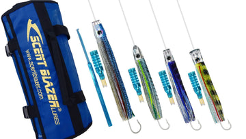 Inshore game fishing lure pack rigged and ready to use.
