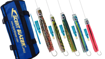 Tuna Game Fishing Lure Pack Spread for Tuna.