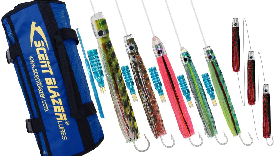 NSW Tuna game fishing lure pack spread.