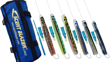 Rigged game fishing lure pack 8 West Coast Wack-Em.