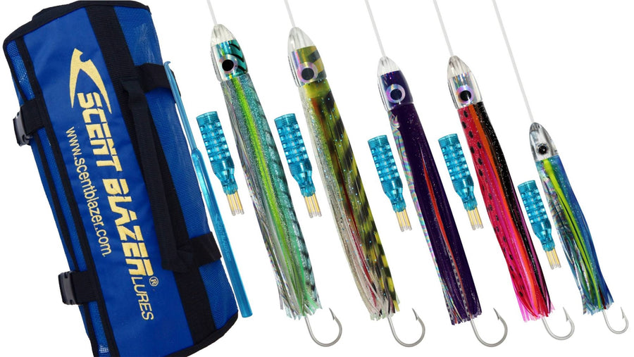 High Speed Game Fishing Lure Pack with lure swag bag.