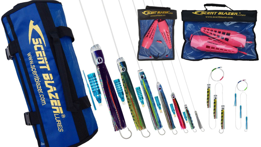 Complete lure pack for all types of deep sea game fish.