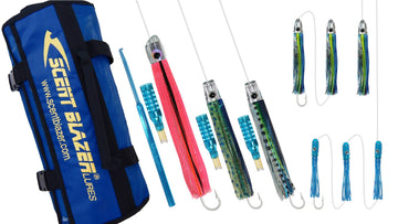 Mahi-Mahi Rigged Game Fishing Trolling Lure Pack.