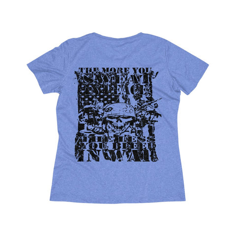 "TFF Women's Wicking Tee ""PEACE OR WAR"""
