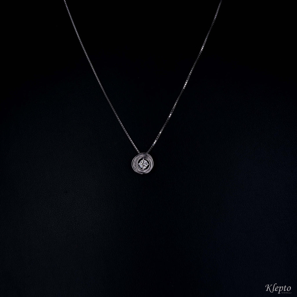 Nest pendant in white gold with Diamond
