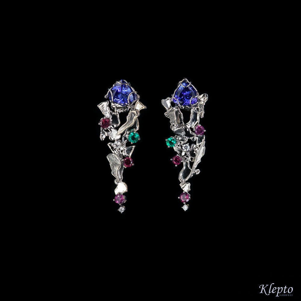 White gold earrings with Beryl