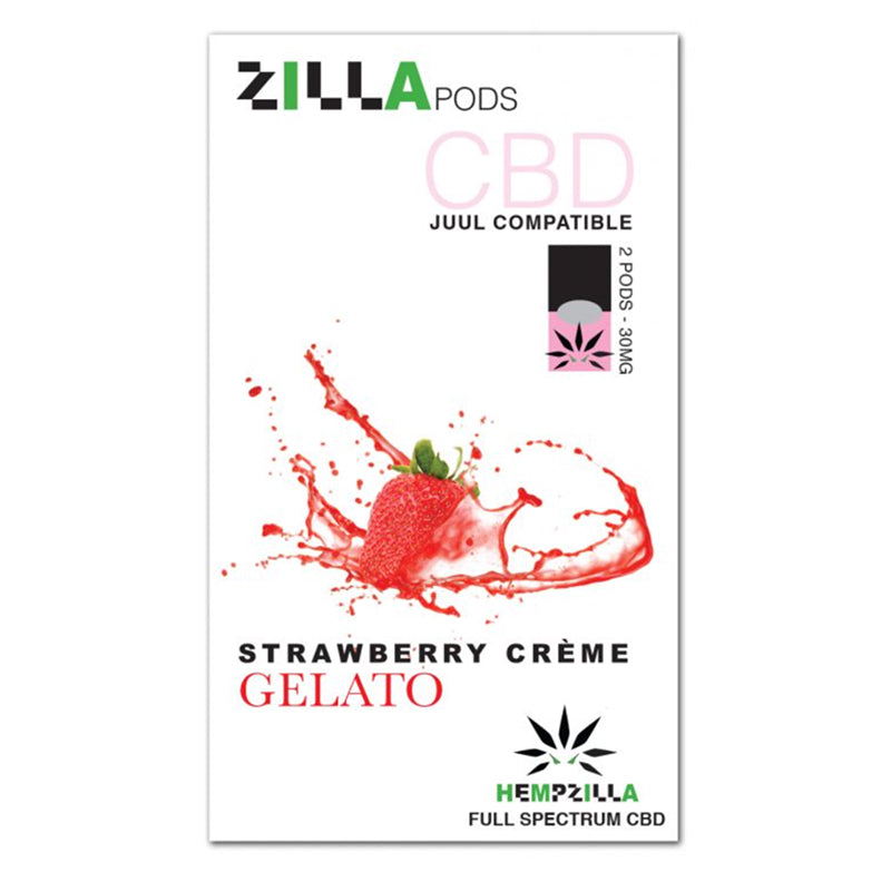 Zilla Pods CBD Juul Compatible  Pods - Strawberry Créme