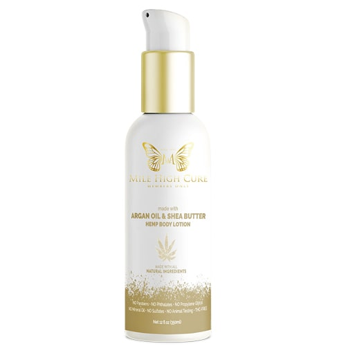 Mile High Cure - Argan Oil & Shea Butter Hemp Lotion