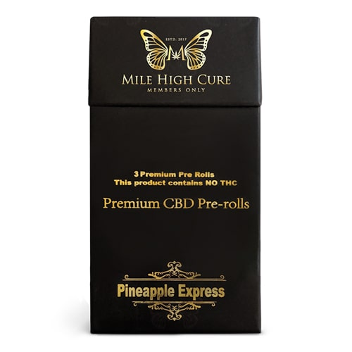 Mile High Cure - Premium CBD Pre Rolls (3 per pack)
