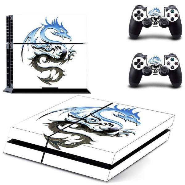 Stickers Ps4 <br> Dragon Argenté