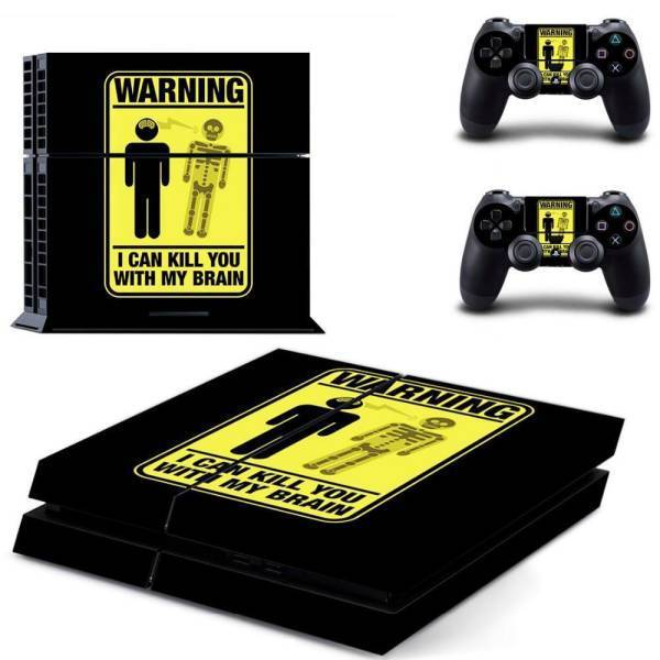 Stickers Ps4 <br> Warning