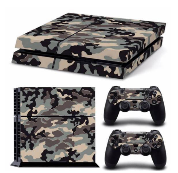 Stickers Ps4 Camouflage <br> + 2 Stickers camouflage pour manettes