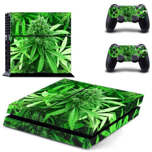 Stickers Ps4 Cannabis <br> + 2 stickers pour manette