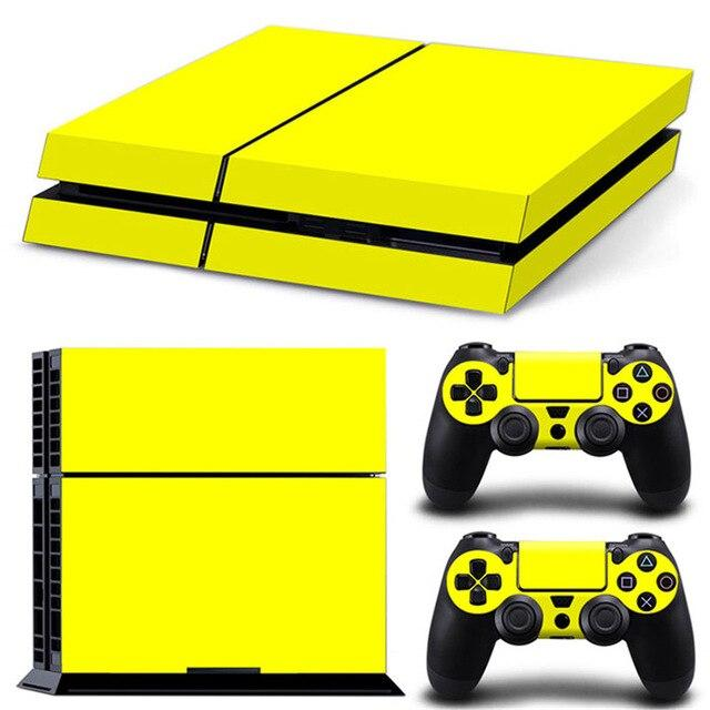 Stickers Ps4 Jaune Fluo