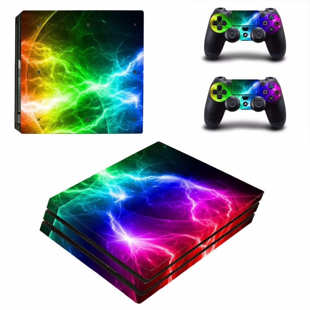 Stickers Ps4 Pro Éclair multicolore