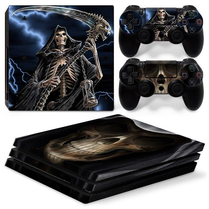 Stickers Ps4 Pro <br> Faucheuse de mort Gaming Univers