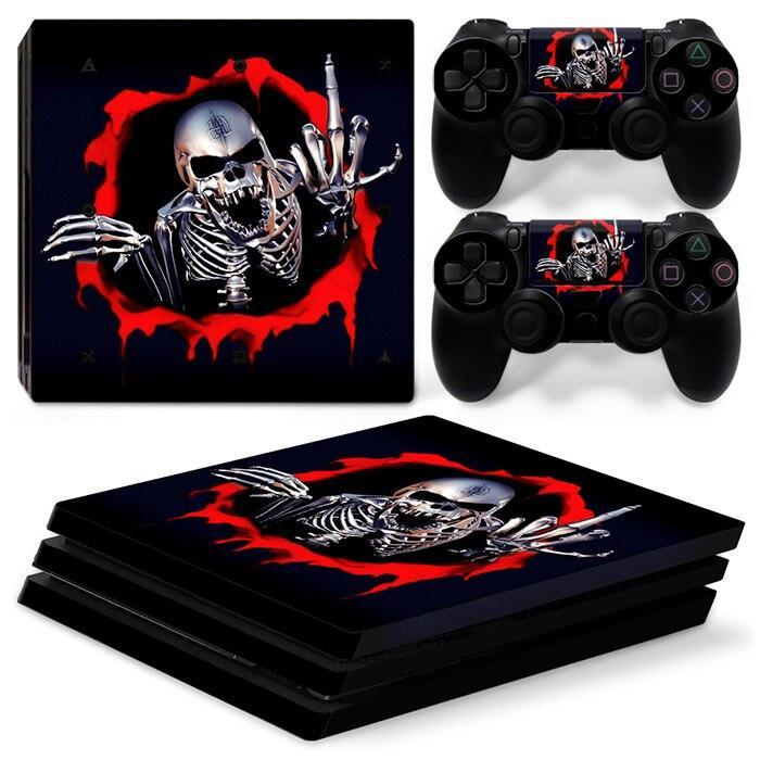 Stickers Ps4 Pro Squelette Rebelle