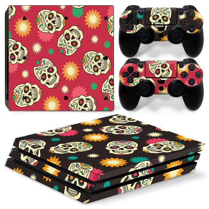 Stickers Ps4 Pro Crânes Mexicain