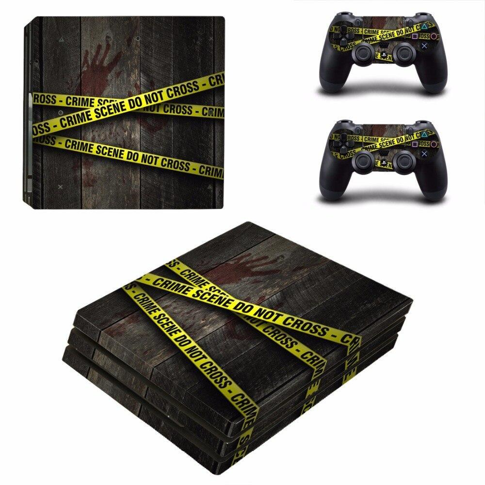 Stickers Ps4 Pro Scène de Crime