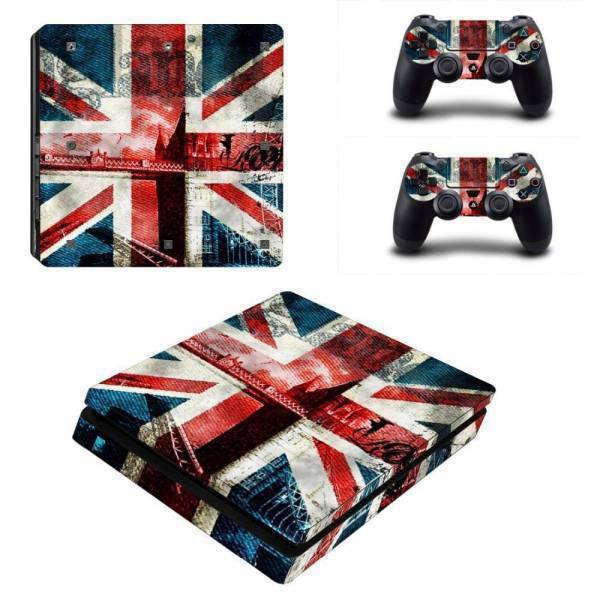Stickers Ps4 Slim <br> Angleterre Vintage