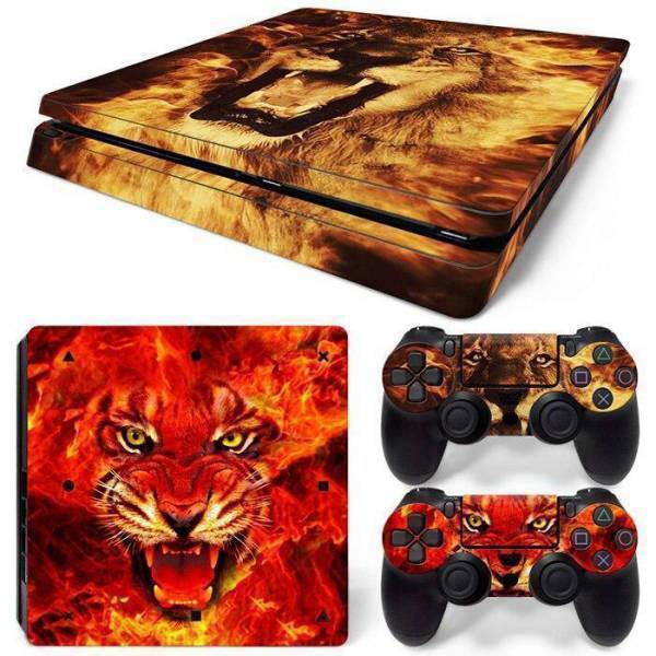 Stickers Ps4 Slim <br> Lion Sauvage