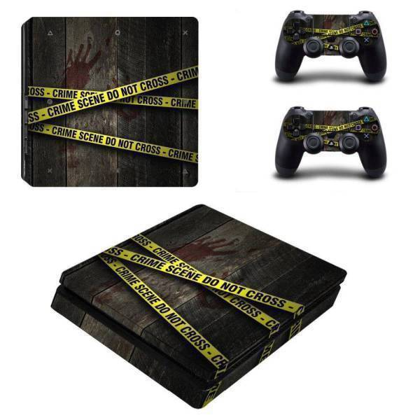 Stickers Ps4 Slim <br> Scène de Crime