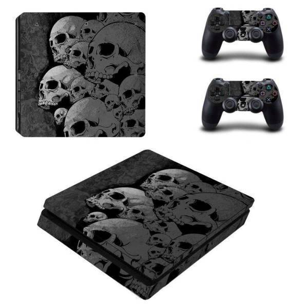 Stickers Ps4 Slim <br> Têtes de Morts