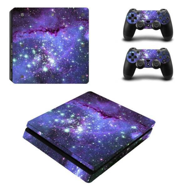 Stickers Ps4 Slim Galaxy <br> + 2 stickers pour vos manette PS4