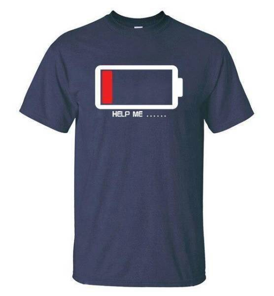 T-shirt Geek  Batterie faible