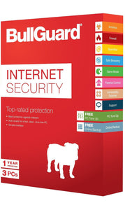 Bullguard 3 User, 1 Year Internet Security