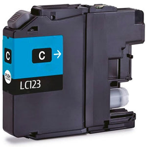 Brother LC-123 compatible Cyan ink cartridge