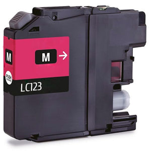 Brother LC-123 compatible Magenta ink cartridge