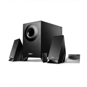 M1360 2.1 speaker system with upward-angled satellites and downward-firing subwoofer **OFFER**