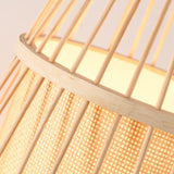 Japanese Wooden Bamboo Lamp